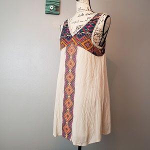 THML Tribal Aztec Boho Mini Dress size S